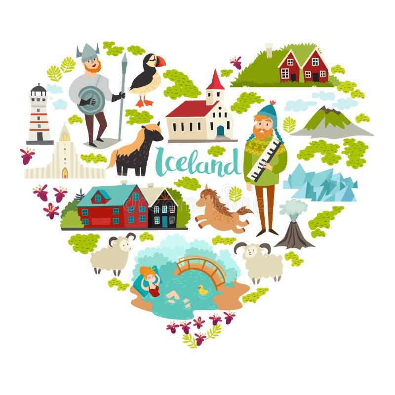 Iconos del vector de las señales de Islandia libre illustration
