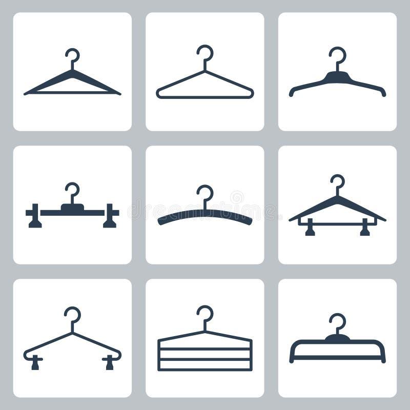 Iconos del vector de las suspensiones ilustración del vector