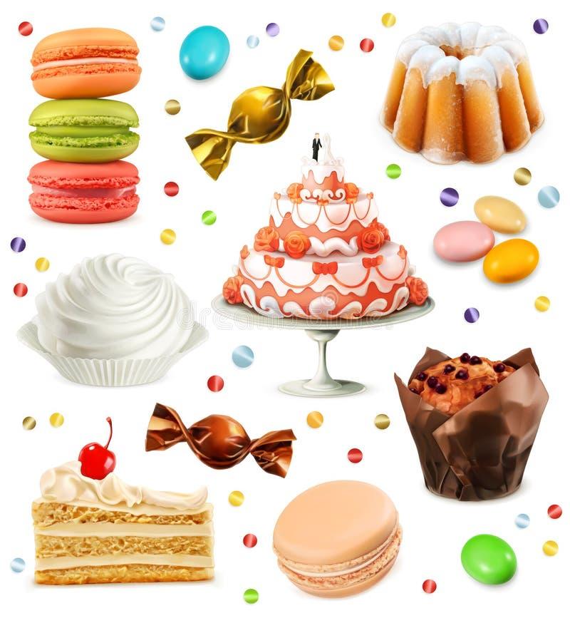 Iconos del vector de los dulces libre illustration