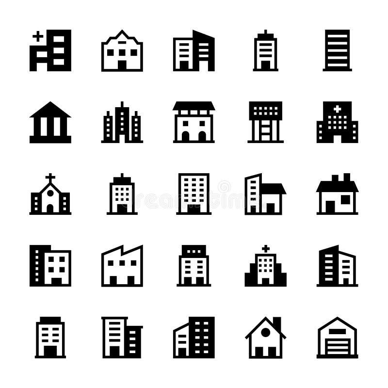 Iconos 2 del vector de los edificios libre illustration