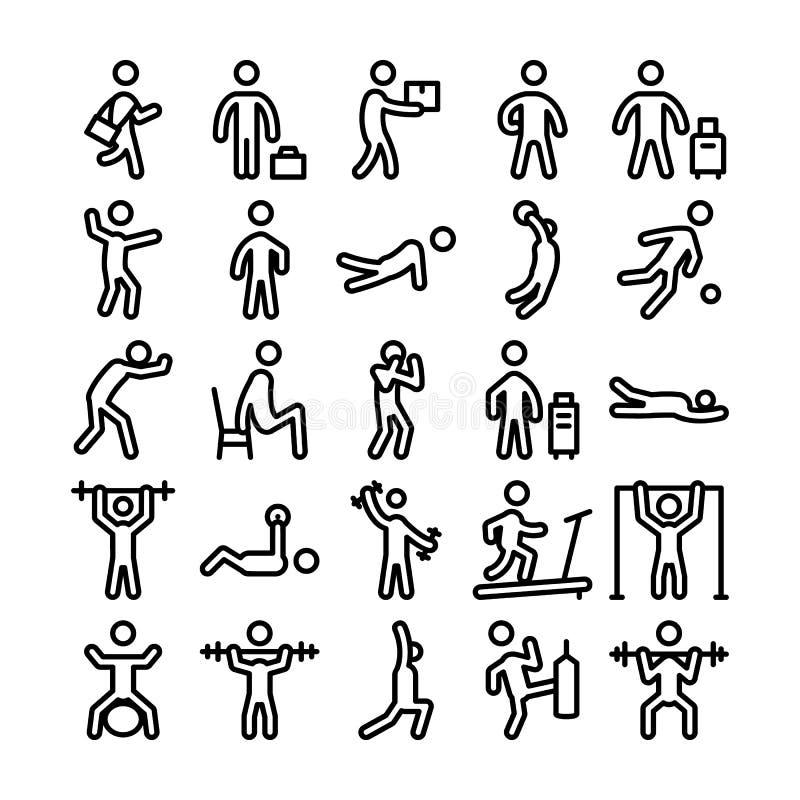 Iconos 2 del vector de los pictogramas libre illustration