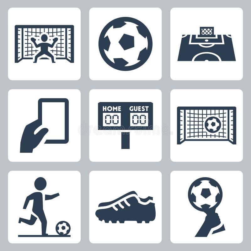Iconos del vector del fútbol ilustración del vector