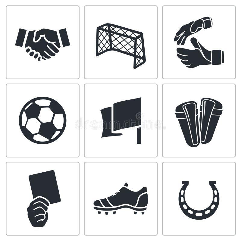 Iconos del vector del fútbol fijados libre illustration