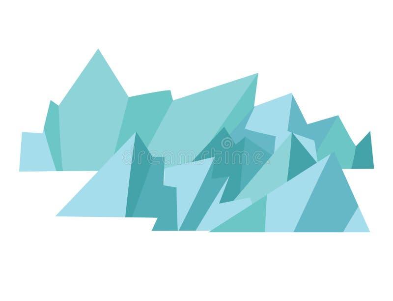 Iconos del vector del glaciar stock de ilustración
