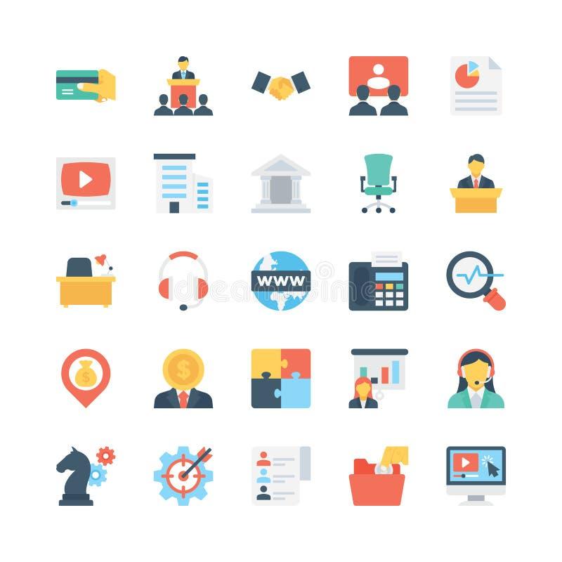 Iconos 5 del vector del negocio libre illustration