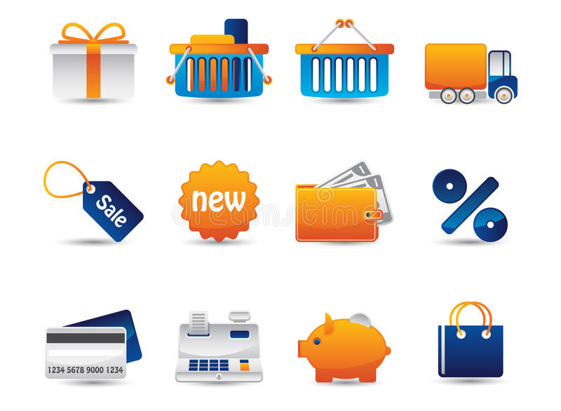 Iconos del vector del Web stock de ilustración