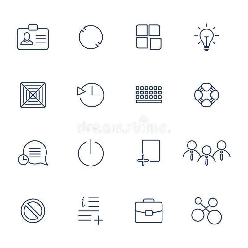 Iconos del vector del esquema para el web y el m?vil ilustración del vector