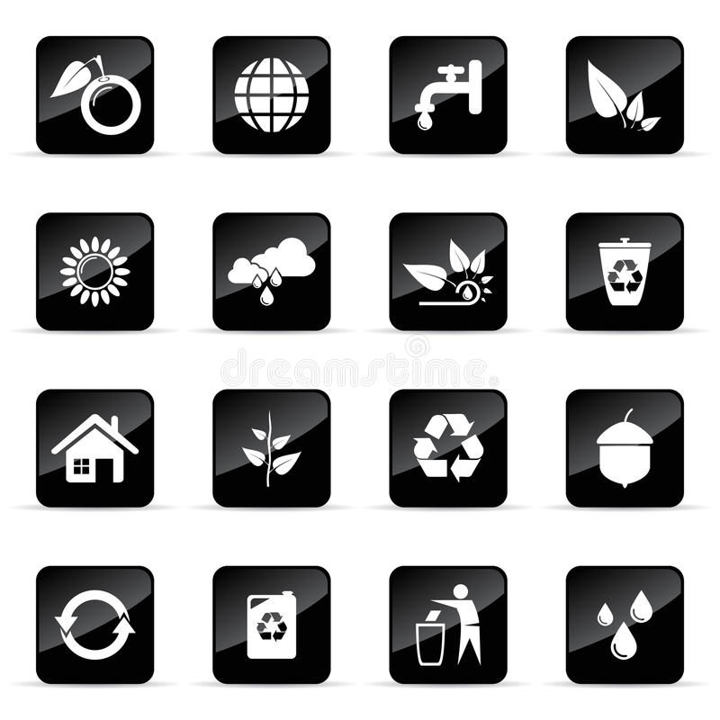 Iconos del vector fijados libre illustration