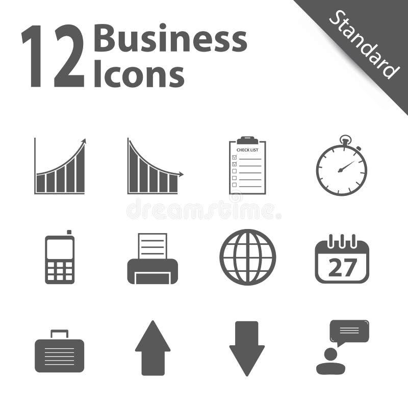 Iconos del vector del negocio y de la oficina - estándar ilustración del vector