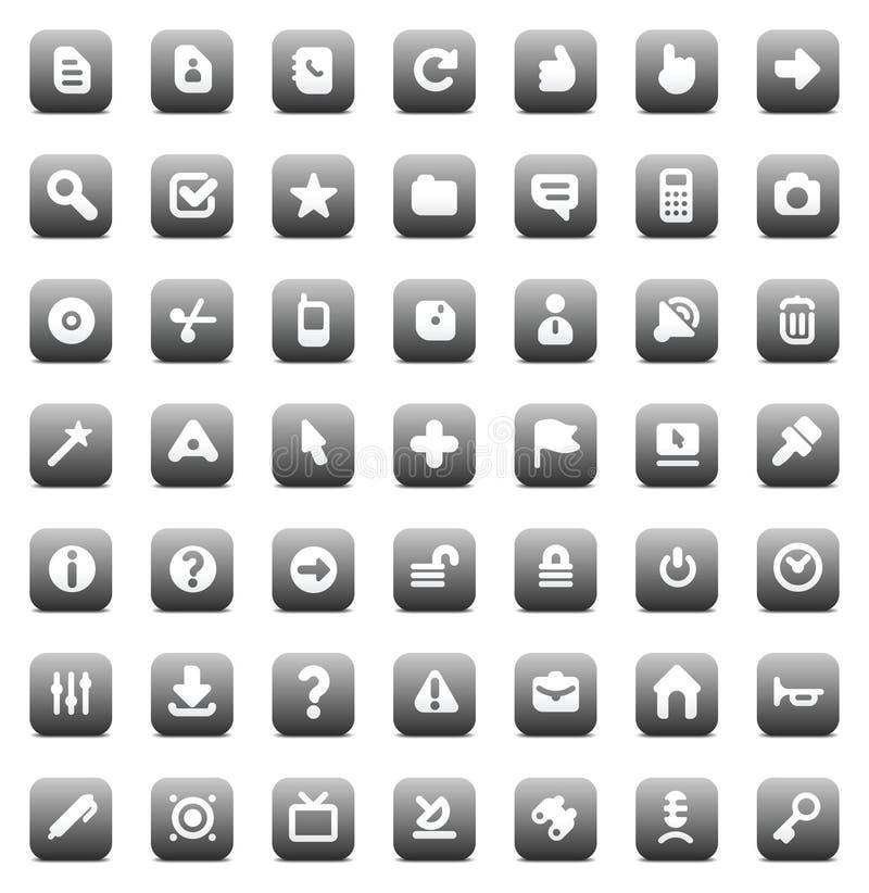 Iconos del vector para el interfaz libre illustration