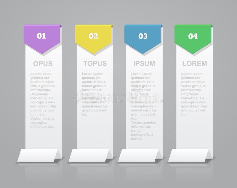 Iconos del vector y del márketing del diseño de Infographic libre illustration