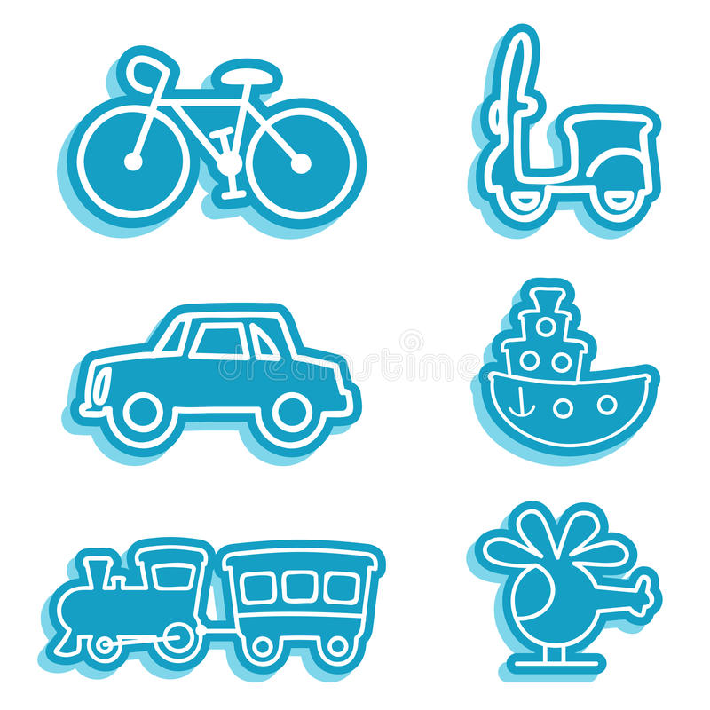 Iconos del vehículo stock de ilustración