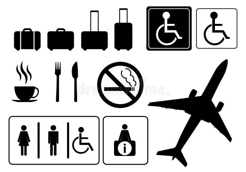 Iconos del viaje, ilustración del vector
