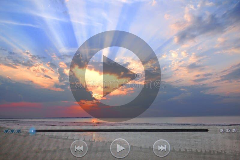 Iconos del videoclip de la naturaleza del día de fiesta imagenes de archivo