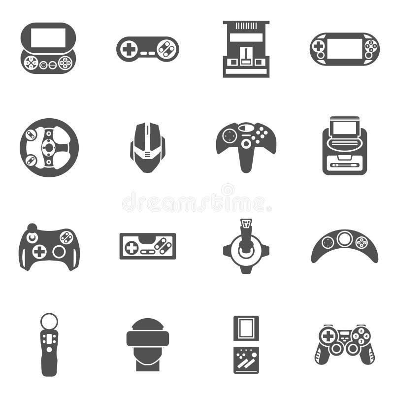 Iconos del videojuego fijados libre illustration
