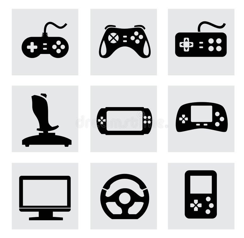 Iconos del videojuego y de la palanca de mando del vector fijados libre illustration