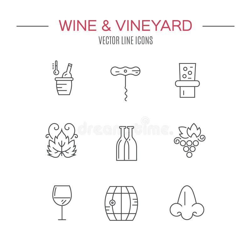 Iconos del vino libre illustration