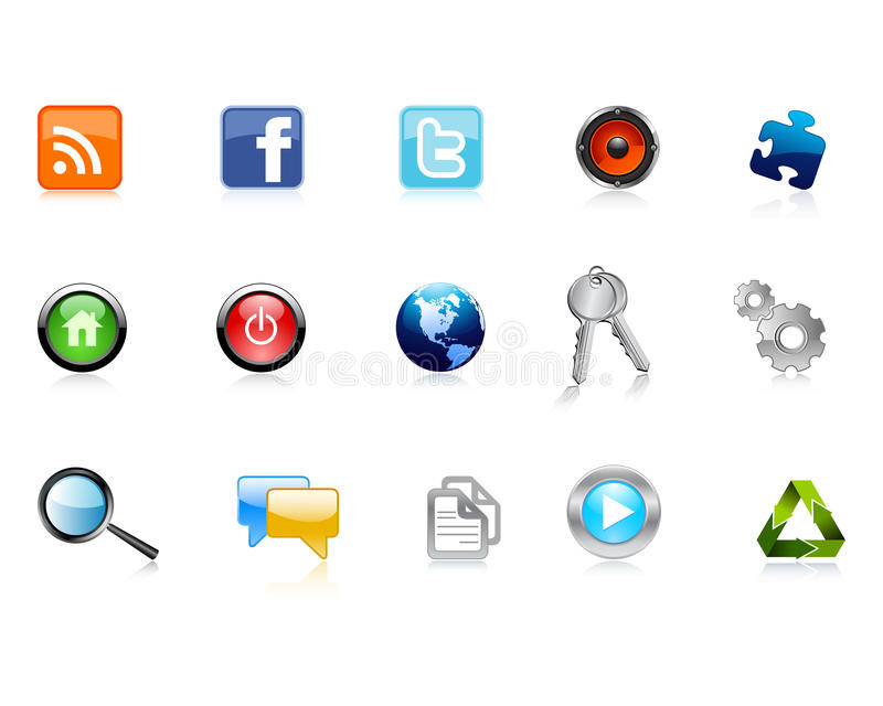 Iconos del Web libre illustration