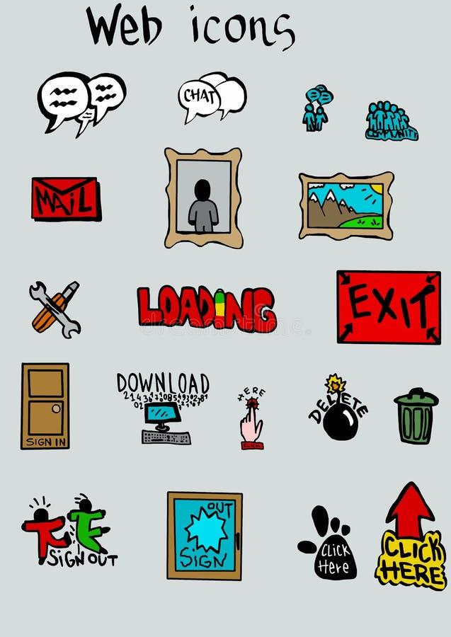 Iconos del web stock de ilustración