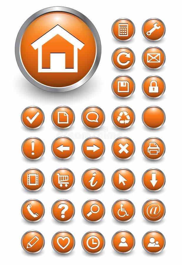 Iconos del Web, botones ilustración del vector