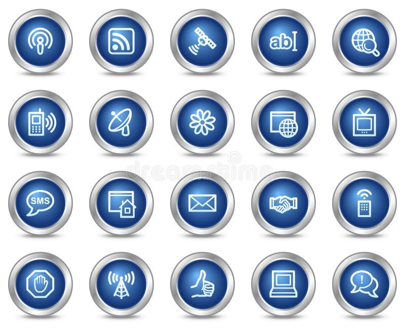 Iconos del Web de la comunicación del Internet stock de ilustración