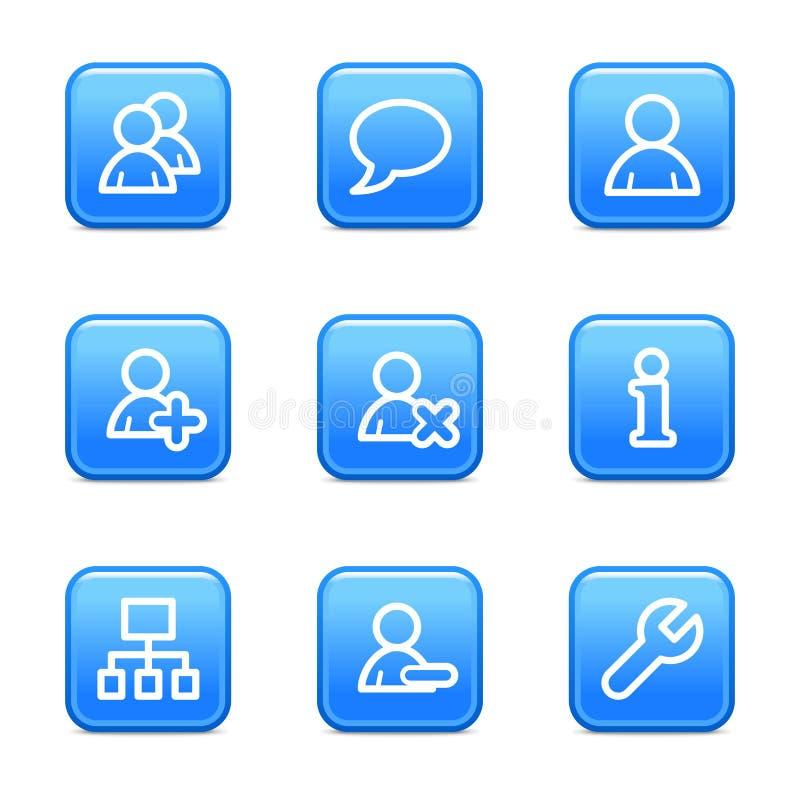 Iconos del Web de los utilizadores stock de ilustración