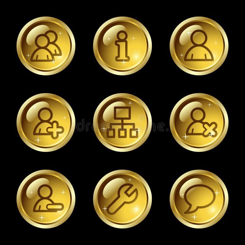 Iconos del Web de los utilizadores ilustración del vector