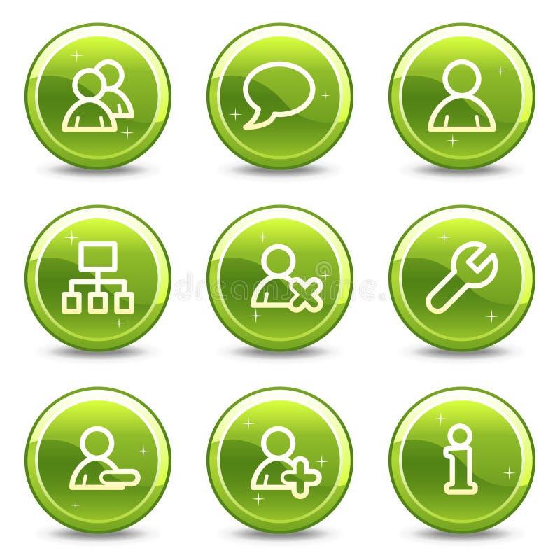 Iconos del Web de los utilizadores libre illustration