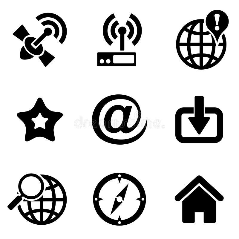 Iconos del Web del ordenador ilustración del vector