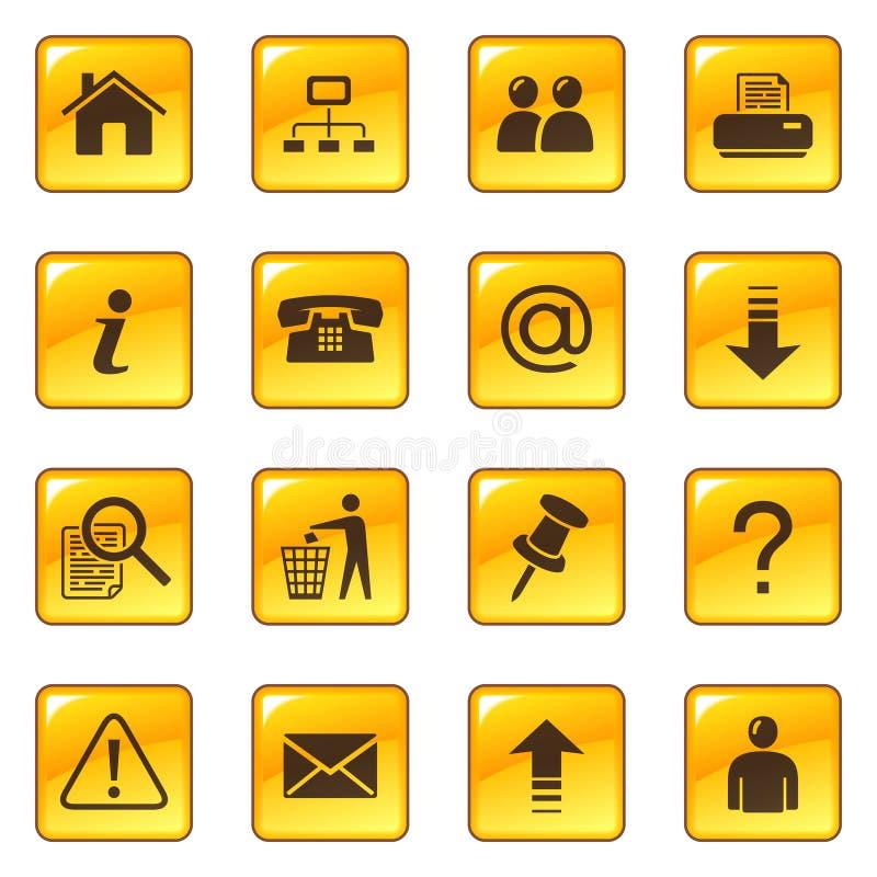 Iconos del Web en los botones brillantes libre illustration