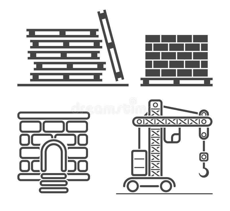 Iconos del web del esquema fijados libre illustration