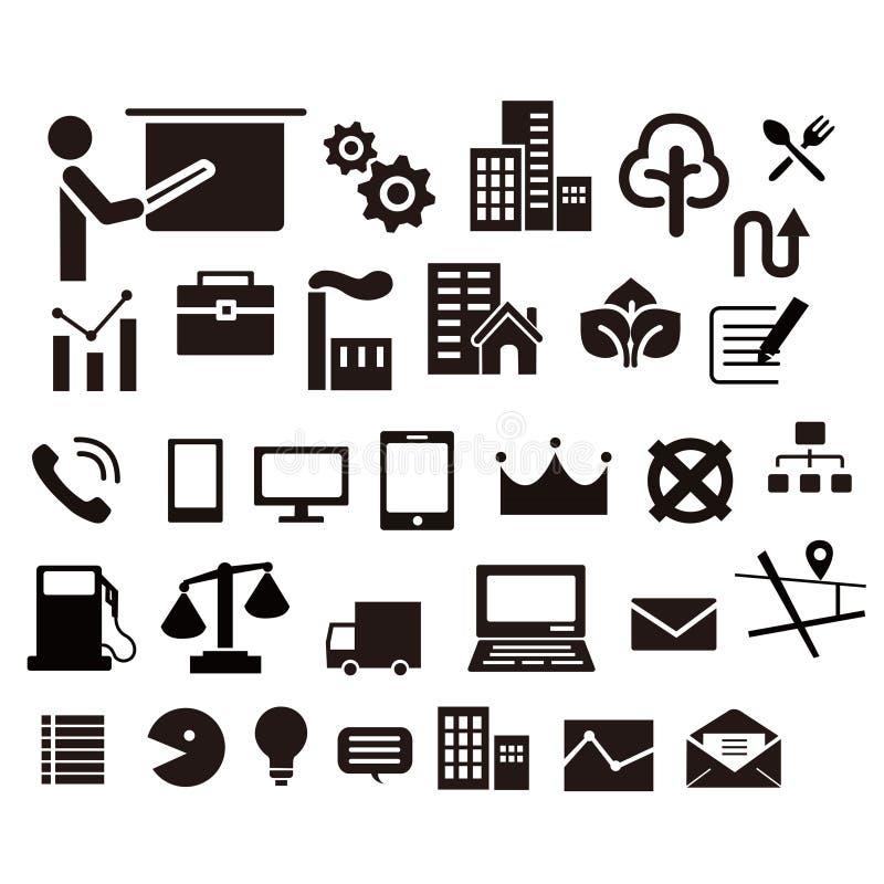 iconos del web para muchos cosa ilustración del vector