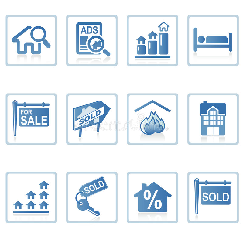 Iconos del Web: Propiedades inmobiliarias 2 ilustración del vector
