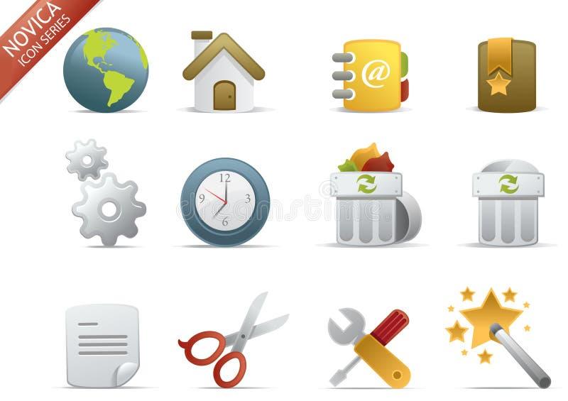 Iconos del Web - serie #1 de Novica stock de ilustración