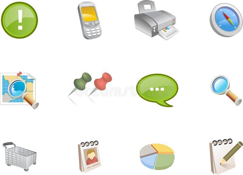 Iconos del Web - serie #3 de Varico stock de ilustración