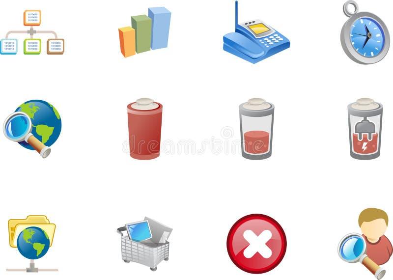 Iconos del Web - serie #4 de Varico ilustración del vector
