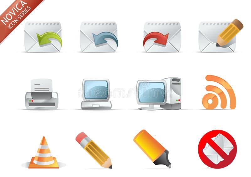 Iconos del Web - serie #6 de Novica stock de ilustración