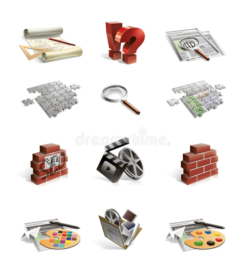 Iconos del Web site stock de ilustración