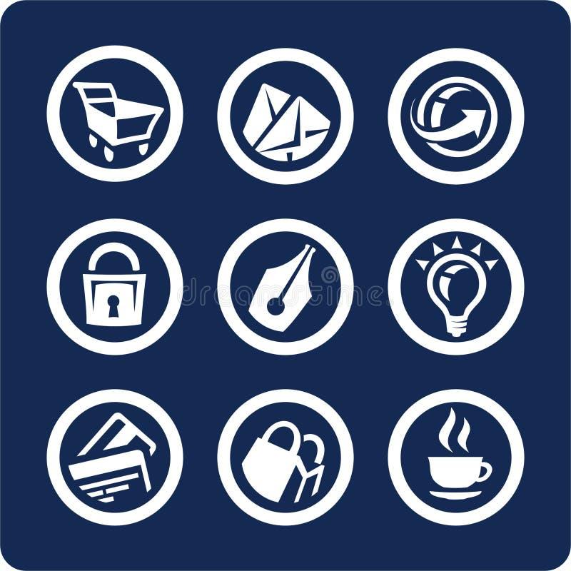 Iconos del Web site y del Internet (fije 2, parte 2) ilustración del vector