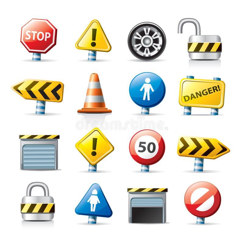 Iconos del Web - tráfico libre illustration