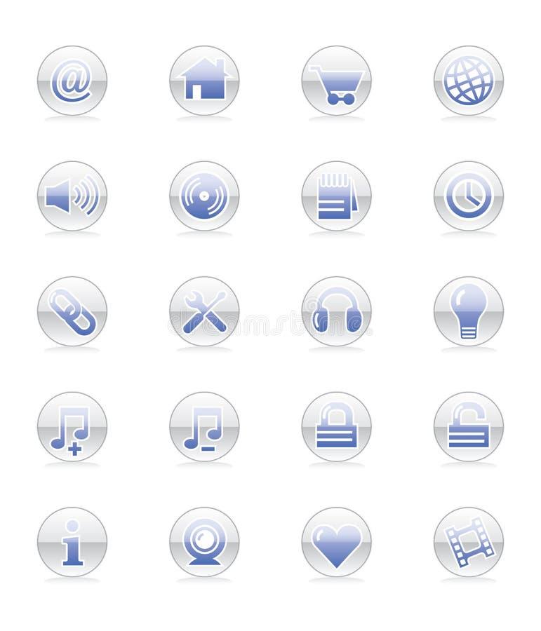 Iconos del Web y del Internet (vector) ilustración del vector