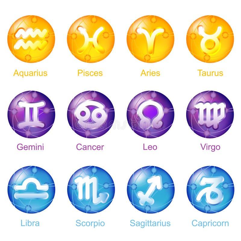 Iconos del zodiaco libre illustration