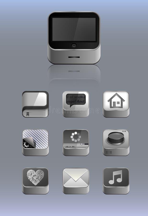 Iconos detallados para el smartphone libre illustration