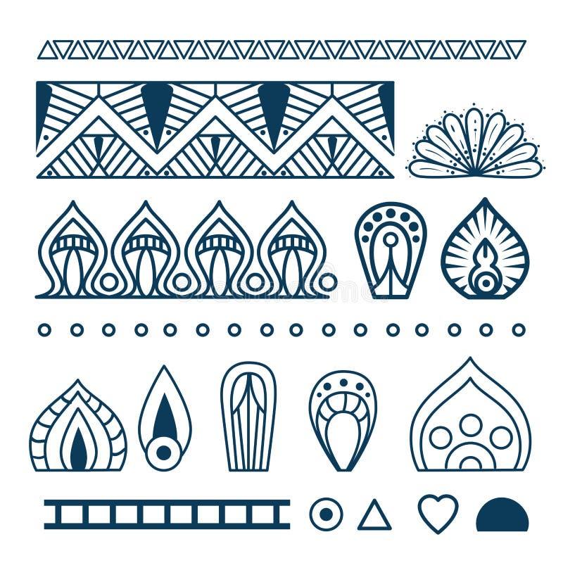 Iconos determinados de la mandala del estilo de Boho libre illustration