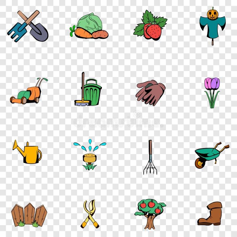 Iconos determinados del jardín ilustración del vector