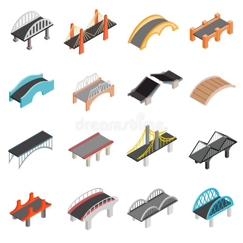 Iconos determinados del puente libre illustration