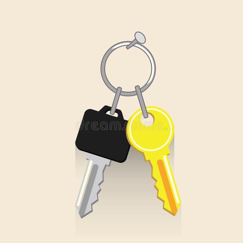 Iconos dominantes de la casa y del coche Ilustration del vector del alquiler de las propiedades inmobiliarias y del coche ilustración del vector