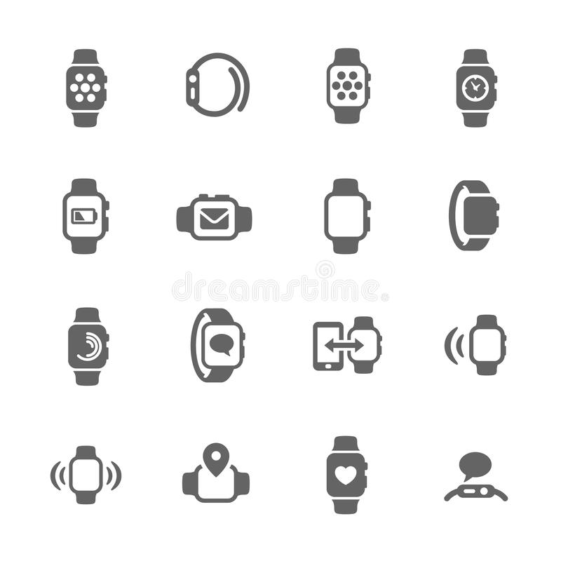 iconos elegantes del reloj libre illustration