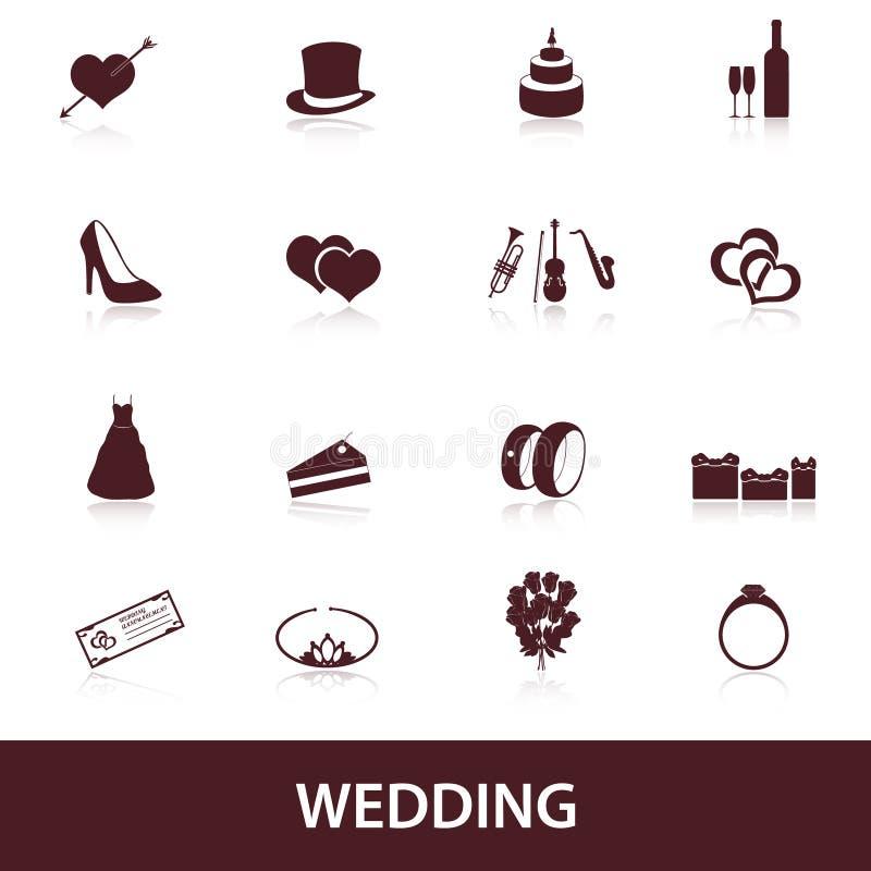 Iconos eps10 de la boda libre illustration