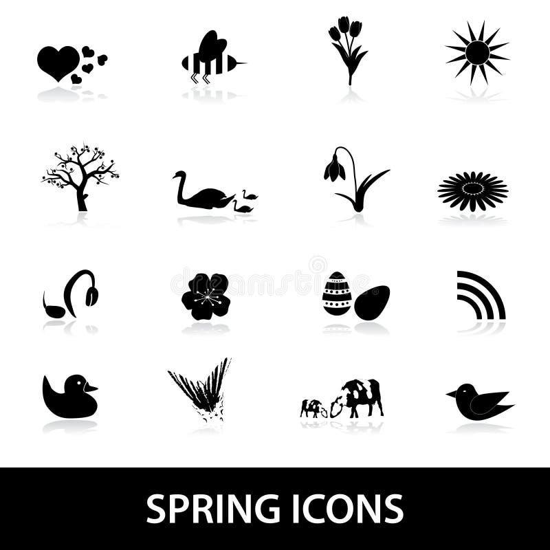 Iconos eps10 de la primavera stock de ilustración